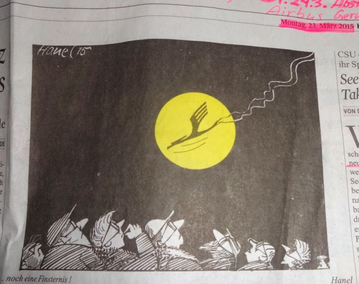 Cartoon Lufthansa Aktie 23.3.